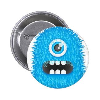 Blue Monster Pinback Button
