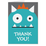 Blue Monster Thank You Stationery Note Card