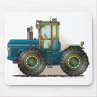 Blue Monster Tractor Mouse Pads