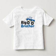 Blue Monster Truck Big Brother Toddler T-shirt