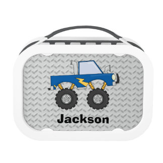 Blue Monster Truck Boys Personalized Yubo Lunchbox