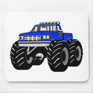 BLUE MONSTER TRUCK MOUSE PAD