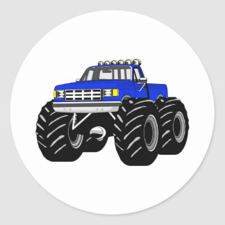 BLUE MONSTER TRUCK STICKERS