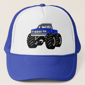 BLUE MONSTER TRUCK TRUCKER HAT