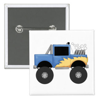 Blue Monster Truck Tshirts and Gifts Pinback Buttons