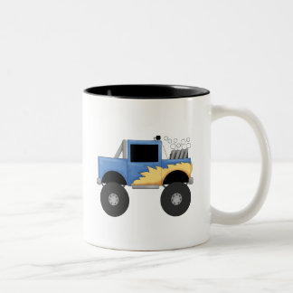Blue Monster Truck Tshirts and Gifts Two-Tone Coffee Mug