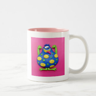 Blue Monster Two-Tone Coffee Mug