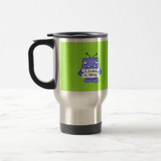 Blue Monster With  Coffee Travel Mug