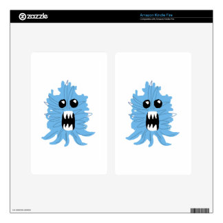 Blue Monster Wrapping Paper Decals For Kindle Fire