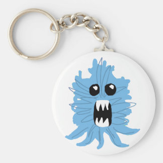 Blue Monster Wrapping Paper Keychain