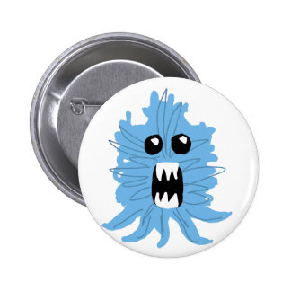 Blue Monster Wrapping Paper Pinback Button
