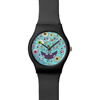 Blue monster wrist watch
