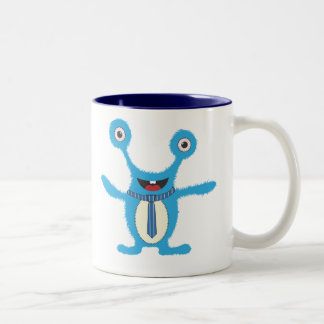 Blue monstermok!! Two-Tone coffee mug