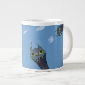 Blue Monsters Large Coffee Mug