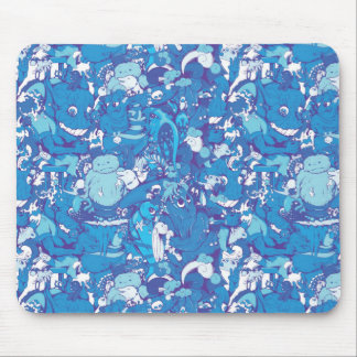 Blue Monsters Mouse Pad