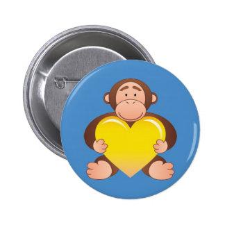 Blue Monty Button