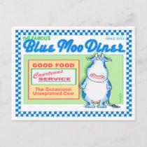 BLUE MOO DINER by Boynton Postcard