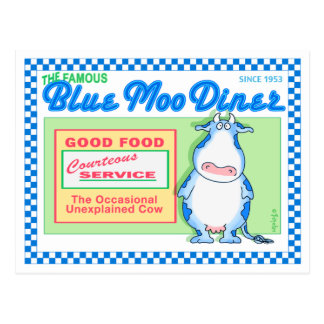 BLUE MOO DINER by Boynton Post Cards