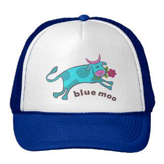Blue moo trucker hat