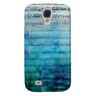 Blue Mood Music Samsung Galaxy S4 Cases