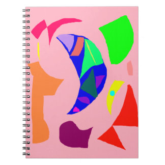 Blue Moon after the Storm Cool Air Coral Sound Spiral Notebook