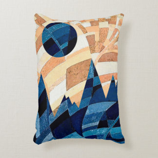 Blue Moon and Mountains Accent Pillow