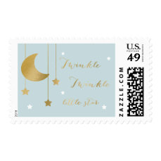 Blue Moon and Stars Baby Shower Stamp