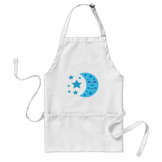 Blue Moon and Striped Stars Adult Apron