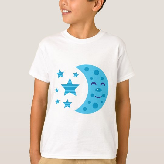 Blue Moon and Striped Stars T-Shirt