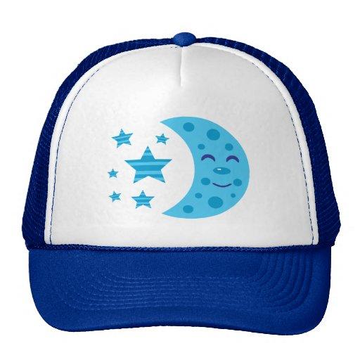Blue Moon and Striped Stars Trucker Hats