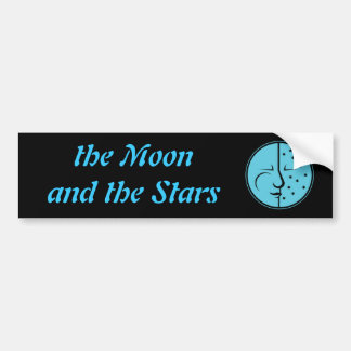 Blue Moon and the Stars Bumper Sticker