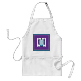 Blue Moon Angel Butterfly made of Cotton Fabric 99 Adult Apron