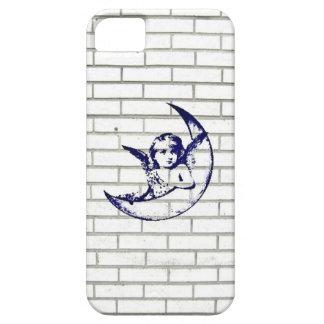 Blue Moon Angel Graffiti On White Brick Wall iPhone SE/5/5s Case