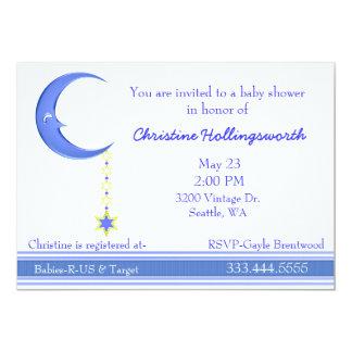 Blue Moon Baby Boy Shower Invitation