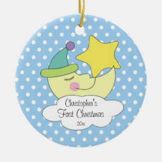 Blue Moon Baby's First Christmas Ornament