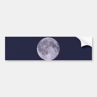 Blue Moon Car Bumper Sticker