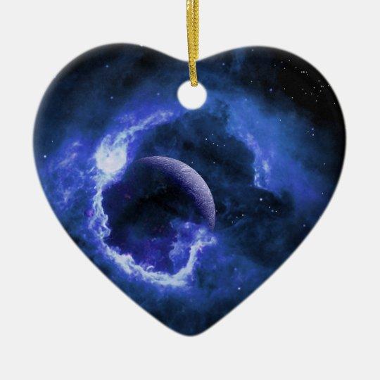 Blue Moon Ceramic Ornament
