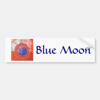 Blue Moon - collage Car Bumper Sticker