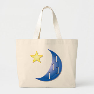 Blue Moon Customizable Large Tote Bag