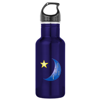 Blue Moon Customizable Stainless Steel Water Bottle