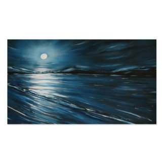 BLUE MOON Double-Sided STANDARD BUSINESS CARDS (Pack OF 100)