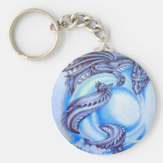 Blue Moon Dragon Keychain