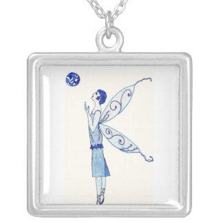 Blue Moon Fairy 2011 Square Pendant Necklace