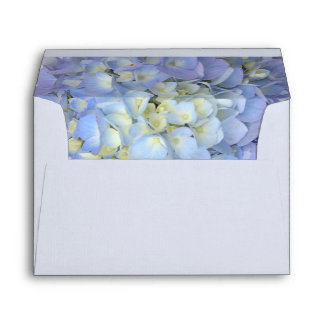 Blue Moon Floral Hydrangea Address Template A7 Envelope