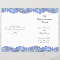 Blue Moon Folded Floral Wedding Program Template