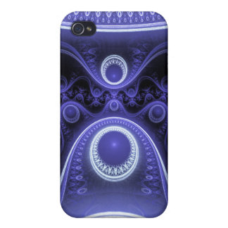 Blue Moon Fractal Cases For iPhone 4