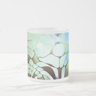 Blue moon frosted glass coffee mug
