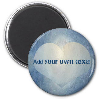 Blue moon heart 2 inch round magnet