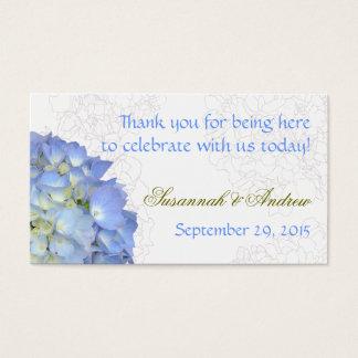 Blue Moon Hydrangea 100 Wedding Thank You Tags