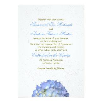 Blue Moon Hydrangea Art Wedding Invitation